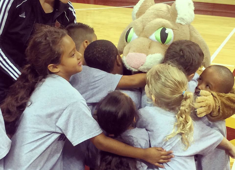 Lorri Ann loved interacting with children at Boko the Bobcat.